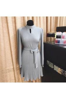 Платье мини с юбочкой плиссе