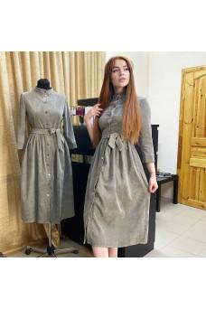 Платье миди из микровельвета