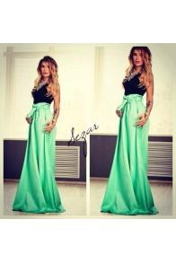 Длинная юбка бирюзового цвета
