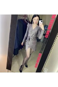 Платье люрекс с запахом